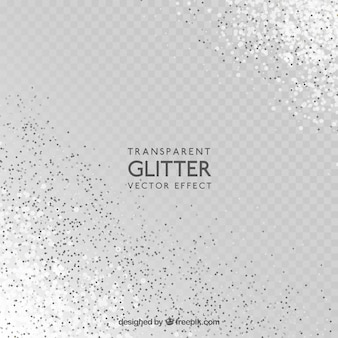 Transparent glitter background