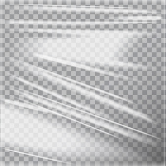 Transparent glossy polyethylene plastic warp.  template