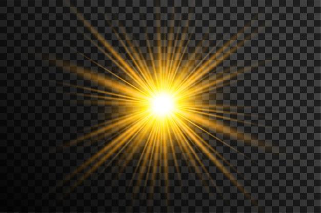 Прозрачный светящийся фон вспышки линз