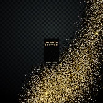 透明な金色の輝きのベクトルの背景