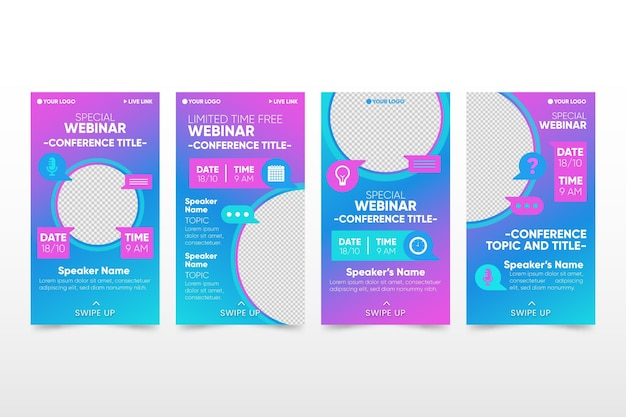Transparent ig story webinar template