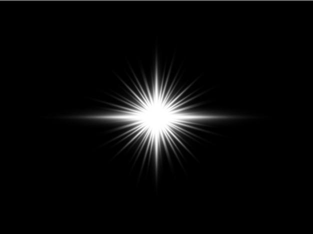 透明光フレア効果背景デザインeps