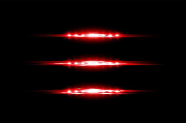 Прозрачный световой эффект вспышки красного цвета фона дизайн eps