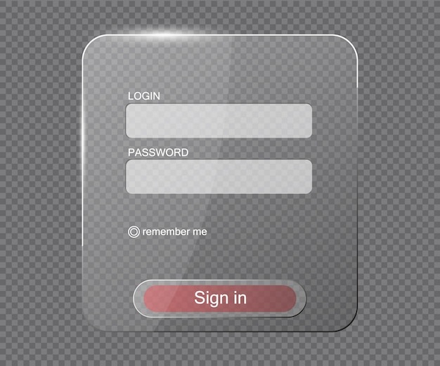 Transparent login web form
