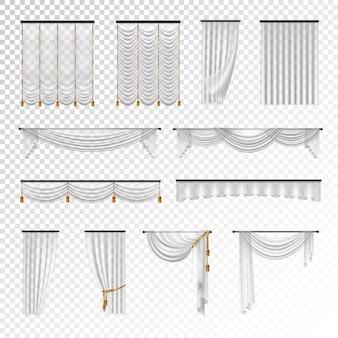 透明な高級カーテンとカーテンの室内装飾デザインのアイデア