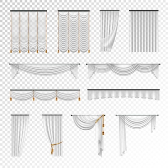 Transparent luxury curtains and draperies interior decoration design ideas
