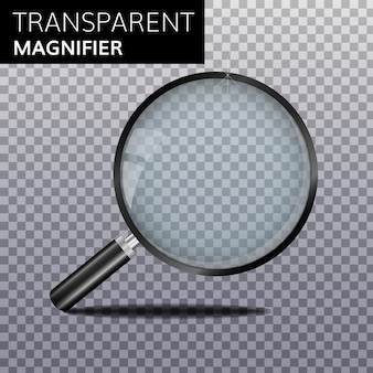 Transparent magnify glass