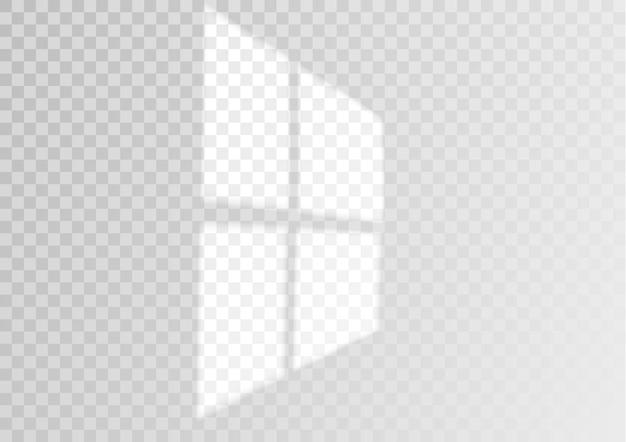 투명 오버레이 창 및 블라인드 그림자 현실적인 조명 효과