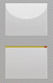 透明なプラスチックファイル。