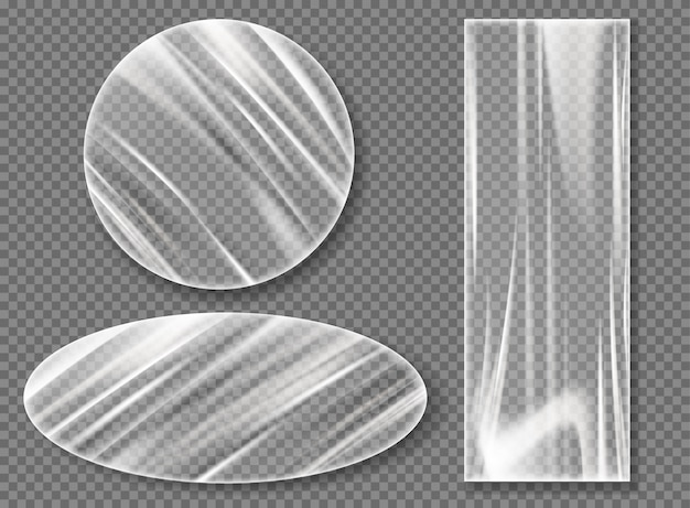 Прозрачная пластиковая стрейч пленка для упаковки