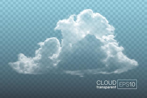 透明でリアルな雲。装飾的な要素として、または背景を作成するために使用できます。