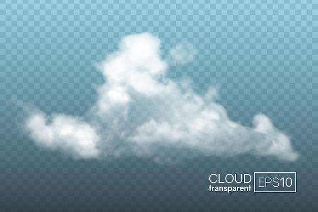 透明な現実的な雲。