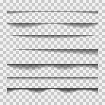 Transparent realistic shadow effect set