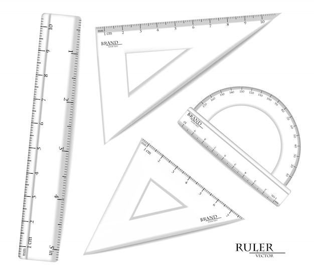 Transparent rulers set