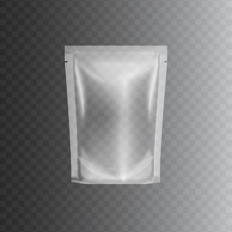 Transparent sealed plastic bag