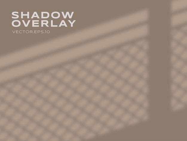 Эффект прозрачной тени от оконного стекла премиум векторы