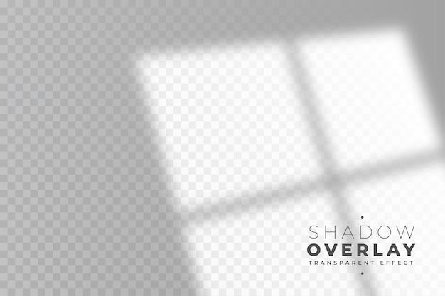 部屋の窓の透明な影のオーバーレイ