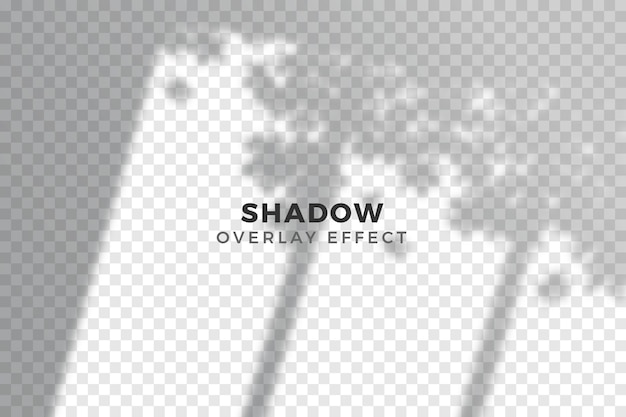 Transparent shadows overlay effect concept