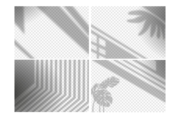 Transparent shadows overlay effect concept