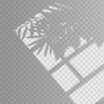 透明な影のオーバーレイ効果のデザイン