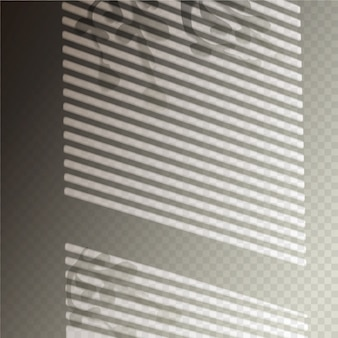 Transparent shadows overlay effect with window blinds