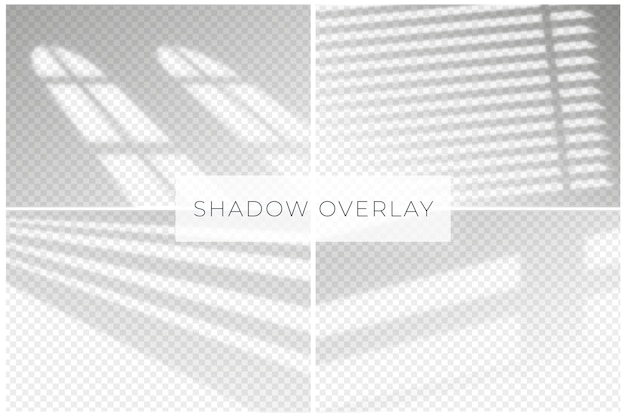 Transparent shadows overlay effect