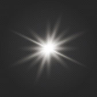 Transparent shine gradient glitter, bright flare. glare texture. glow light effect. star burst with sparkles