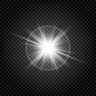 Transparent and shining sunlight special lens glare effect.