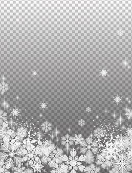 Transparent snowy