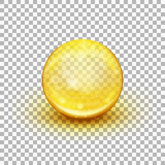 Transparent soft gel capsule object. fish oil. and also includes