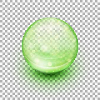 Transparent soft gel capsule.