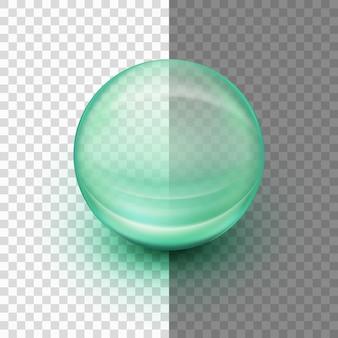 Прозрачная мягкая гелевая капсула.