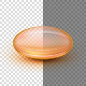 투명한 연질 젤 캡슐.