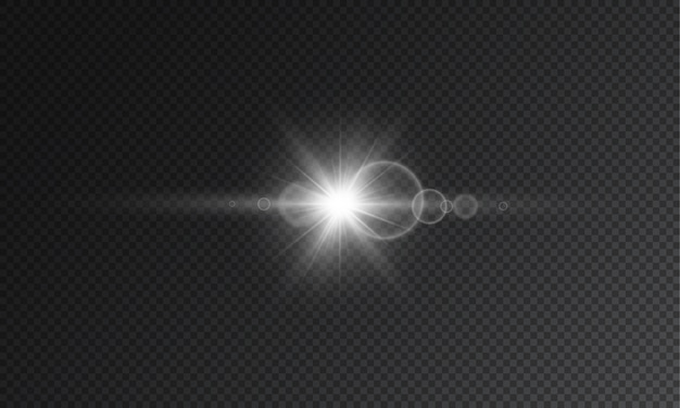 Transparent star flash