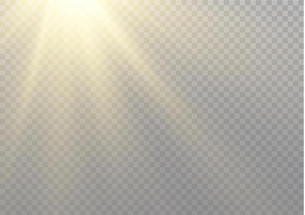 Прозрачный солнечный свет, световой эффект. размытие в свете сияния. звездные лучи.
