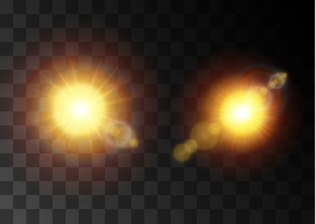 Transparent sunlight special lens flare light effect. christmas abstract pattern. sparkling magic dust particles