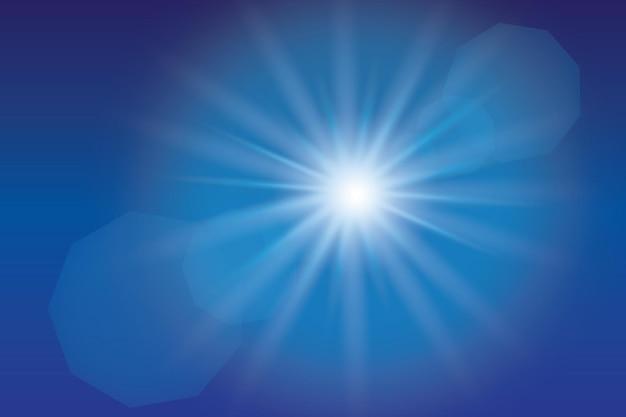 透明日光特殊レンズフレアライト効果イラスト