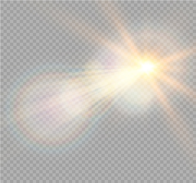 Transparent sunlight special lens flare light effect. sparkling magic dust particles
