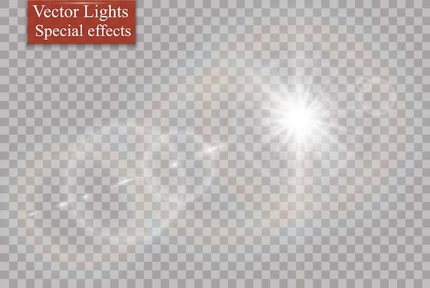 透明太陽光専用レンズフレアライト効果