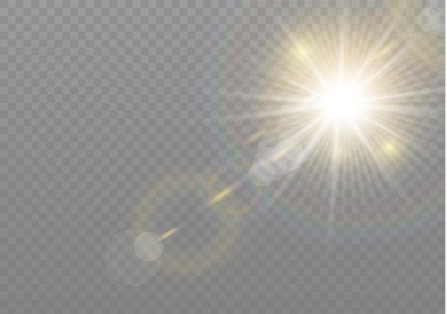 Прозрачный солнечный свет специальные линзы блики световой эффект.