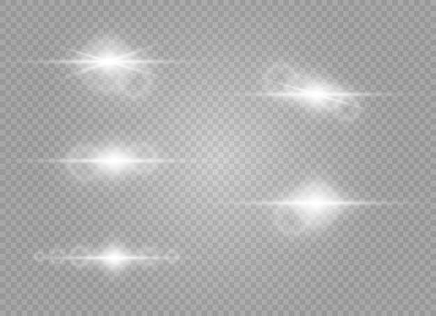 透明日光特殊レンズフレアライト効果