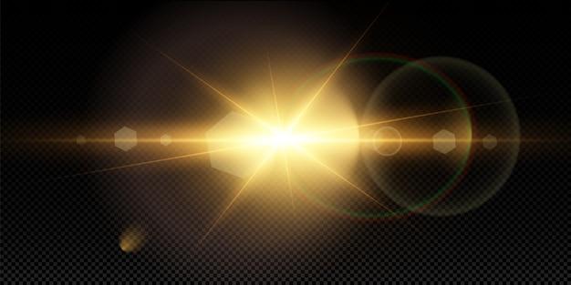 Прозрачный солнечный свет специальные линзы вспышки световой эффект.