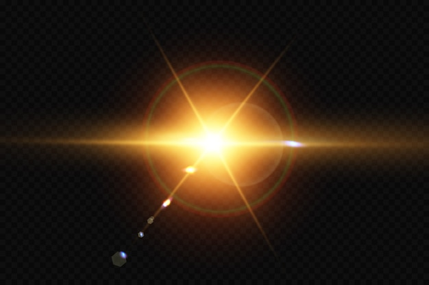 Прозрачный солнечный свет специальные линзы блики световой эффект