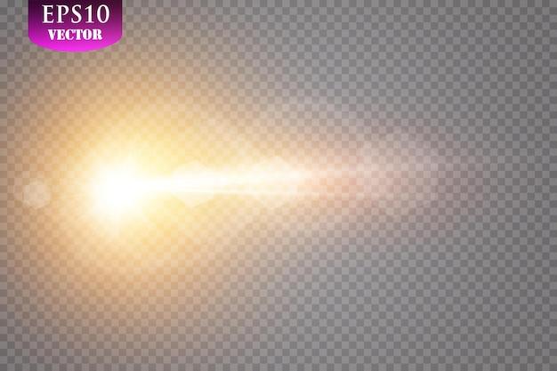 透明太陽光特殊レンズフレアライト効果