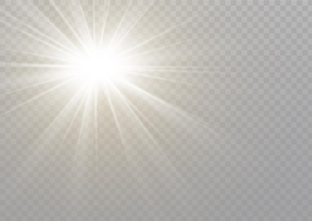 투명한 햇빛 특수 렌즈 플래시 조명 효과. 전면 태양 렌즈 플래시. 빛의 빛으로 흐릿하게.