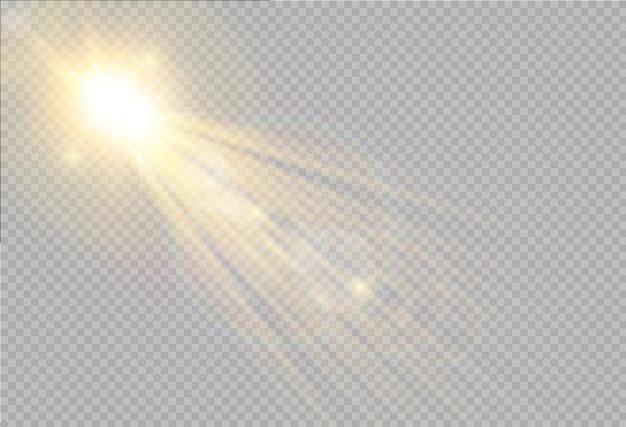 Transparent sunlight special lens flash light effect front sun lens flash   blur in the light of radiance