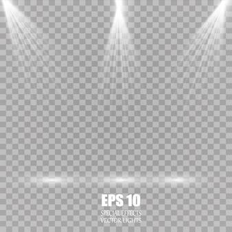 Transparent sunlight special lens flash light effect front sun lens flash. spotlight