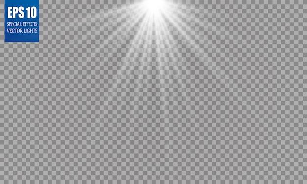 Transparent sunlight special lens flash light effect front sun lens flash.