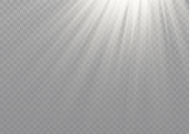 투명한 햇빛 특수 렌즈 플래시 조명 효과.
