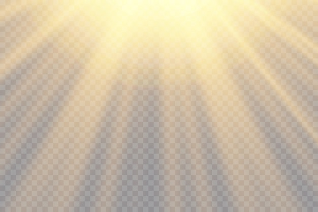 Transparent sunlight special lens flash light effect